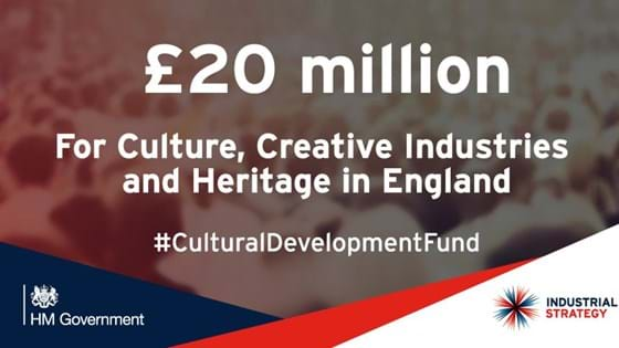 £20m funding for investment in cultural and creative industry